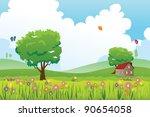 a vector illustration of spring ...   Shutterstock .eps vector #90654058