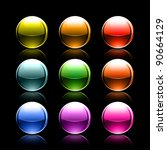 colored glowing metallic balls... | Shutterstock .eps vector #90664129