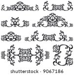 decorative set iii b w.  8... | Shutterstock .eps vector #9067186