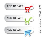 vector shopping cart item   add ... | Shutterstock .eps vector #90691471