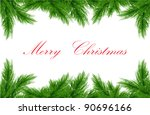 vector greeting card with fir... | Shutterstock .eps vector #90696166