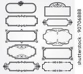 vector decorative ornate design ... | Shutterstock .eps vector #90706888