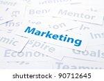 Marketing concept word - stock photo