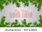 vector xmas greeting card | Shutterstock .eps vector #90712804