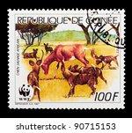 guinea   circa 1987  a stamp... | Shutterstock . vector #90715153