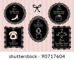 girlie borders vector... | Shutterstock .eps vector #90717604