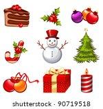 christmas icon set | Shutterstock .eps vector #90719518