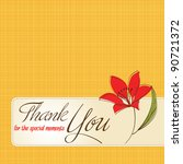 thank you greeting card with... | Shutterstock .eps vector #90721372