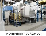 painting booth at the factory | Shutterstock . vector #90723400