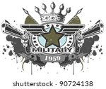 military symbol with pistols | Shutterstock .eps vector #90724138