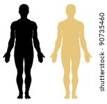 silhouette of human. male | Shutterstock .eps vector #90735460