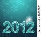 banner for 2012 year made with... | Shutterstock .eps vector #90738001