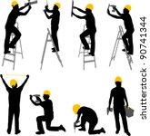 construction workers... | Shutterstock .eps vector #90741344