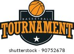 Basketball Tournament Graphic - stock vector