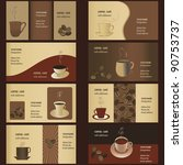 coffee business card templates  ... | Shutterstock .eps vector #90753737