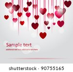 vector valentine background... | Shutterstock .eps vector #90755165