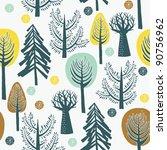winter forest | Shutterstock .eps vector #90756962