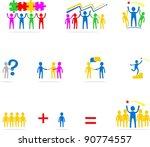 teamwork icons set | Shutterstock .eps vector #90774557