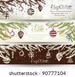 elegant shiny christmas banner... | Shutterstock .eps vector #90777104