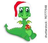 baby dragon santa | Shutterstock .eps vector #90777548