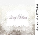 merry christmas greeting card.... | Shutterstock .eps vector #90780464