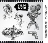 film noir   vintage collection | Shutterstock .eps vector #90782039