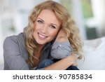 portrait of beautiful blond... | Shutterstock . vector #90785834