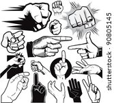 hand collection | Shutterstock .eps vector #90805145