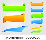 set of colorful vector banner. | Shutterstock .eps vector #90809207