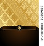 Gold Damask Vector Illustratio...