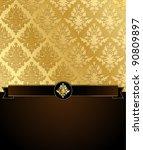 Gold Damask Vector Illustratio...