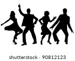dancing people | Shutterstock .eps vector #90812123