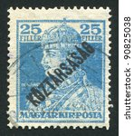 hungary   circa 1918  a stamp... | Shutterstock . vector #90825038