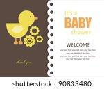 Stock vector cute baby shower design vector illustration 90833480