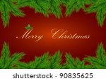 vector greeting card with fir... | Shutterstock .eps vector #90835625