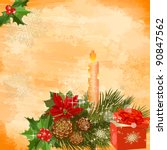 christmas decoration with a...   Shutterstock .eps vector #90847562