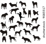 dogs vector shapes | Shutterstock .eps vector #9085517