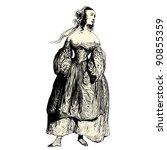 the prostitute   vintage...   Shutterstock .eps vector #90855359