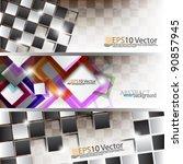 eps10 abstract modern website... | Shutterstock .eps vector #90857945