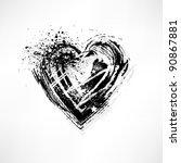 painted brush heart shape | Shutterstock .eps vector #90867881