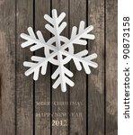 vector white paper christmas... | Shutterstock .eps vector #90873158