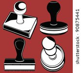 rubber stamps   Shutterstock .eps vector #90875441