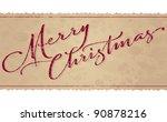 merry christmas hand lettering  ... | Shutterstock .eps vector #90878216