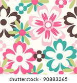 Stock vector seamless flower pattern background 90883265
