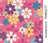 seamless flower pattern red...   Shutterstock .eps vector #90883277