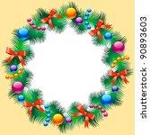 christmas background | Shutterstock .eps vector #90893603