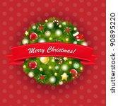 xmas vintage composition   Shutterstock . vector #90895220