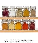 Powder Spices In Glass Bottle...