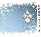christmas bauble background | Shutterstock .eps vector #90903827