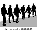 vector image of police in form... | Shutterstock .eps vector #90909842